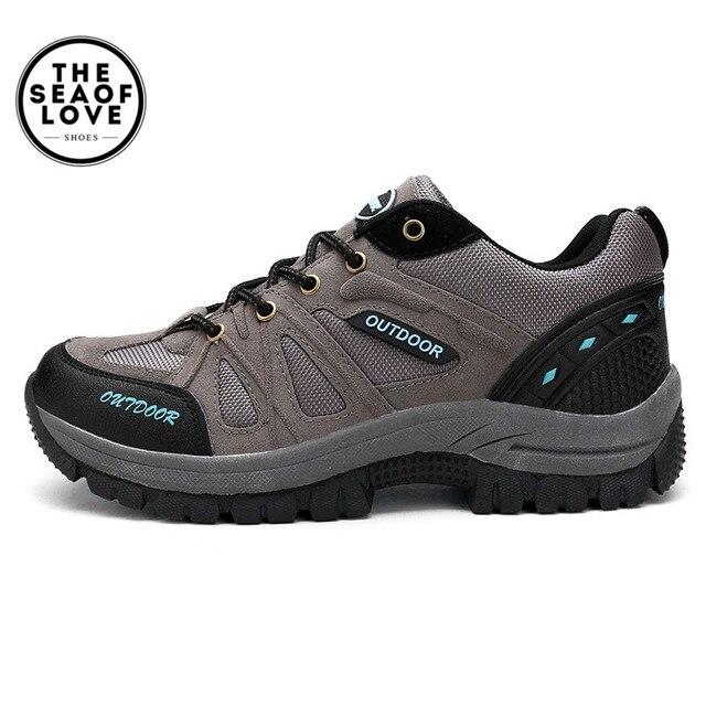 Plus Size 39-46 47 48 Marca Scarpe Da Trekking Uomo Primavera Scarponi Da  Montagna 8670a664241
