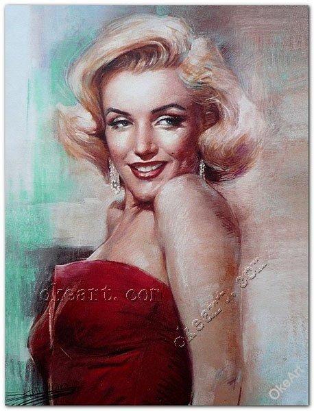 Marilyn Monroe Portrait Prints on canvas American actress female star American sex symbol film 12x16 inch