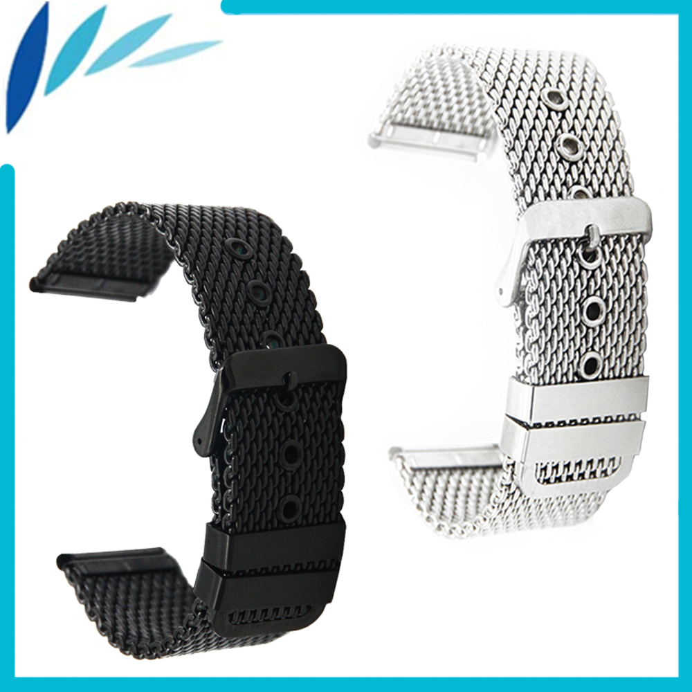 Stainless Steel Watch Band 20mm 22mm for Pebble Time / Round / Steel / Bradley Timepiece Strap Wrist Loop Belt Bracelet + Tool nylon watch band 22mm for pebble time steel stainless pin buckle strap wrist belt bracelet black blue spring bar tool