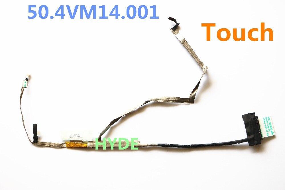 NEW VA51 Touch EDP CABLE 50.4VM14.001 FOR ACER  V5-571 V5-571P LCD LVDS CABLE new 15 6 for acer aspire v5 571 v5 571p v5 571pg v5 531p touch screen digitizer glass replacement frame