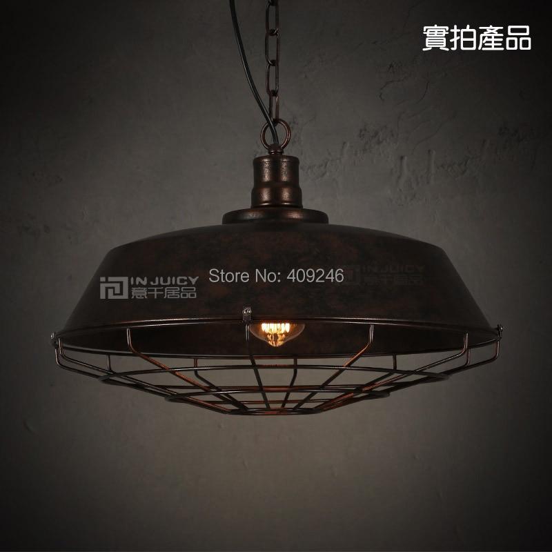 46CM Black / Rust  Vintage Metal  Industrial Pendant  Light  With Chain купить steam аккаунт rust онлайн магазин