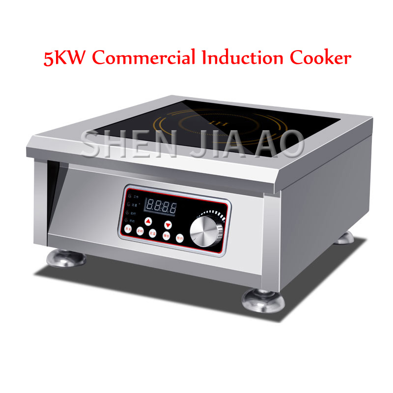 5KW Commercial Induction Cooker  High Power Plane Soup Furnace Five Kilowatt Battery Furnace Brine Table Electric Furnace 220V