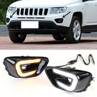 For Jeep Compass 2011-2016 DRL 2*Daytime Running Lights White/Yellow Turn Light