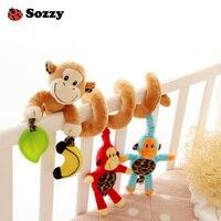 Sozzy Animales Actividad Cuna Juguetes Colgantes Espiral Asiento de Coche Cochecito de Bebé Musical Tire y Agitar Ornamento Confort Juguetes para Los Niños