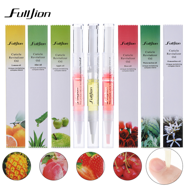 Fulljion 1Pcs Cuticle Revitalizer Oil New Cuticle Care Nail Oil Art Treatment Manicure Pen Tool Fruit Fragrance For Nail Polish