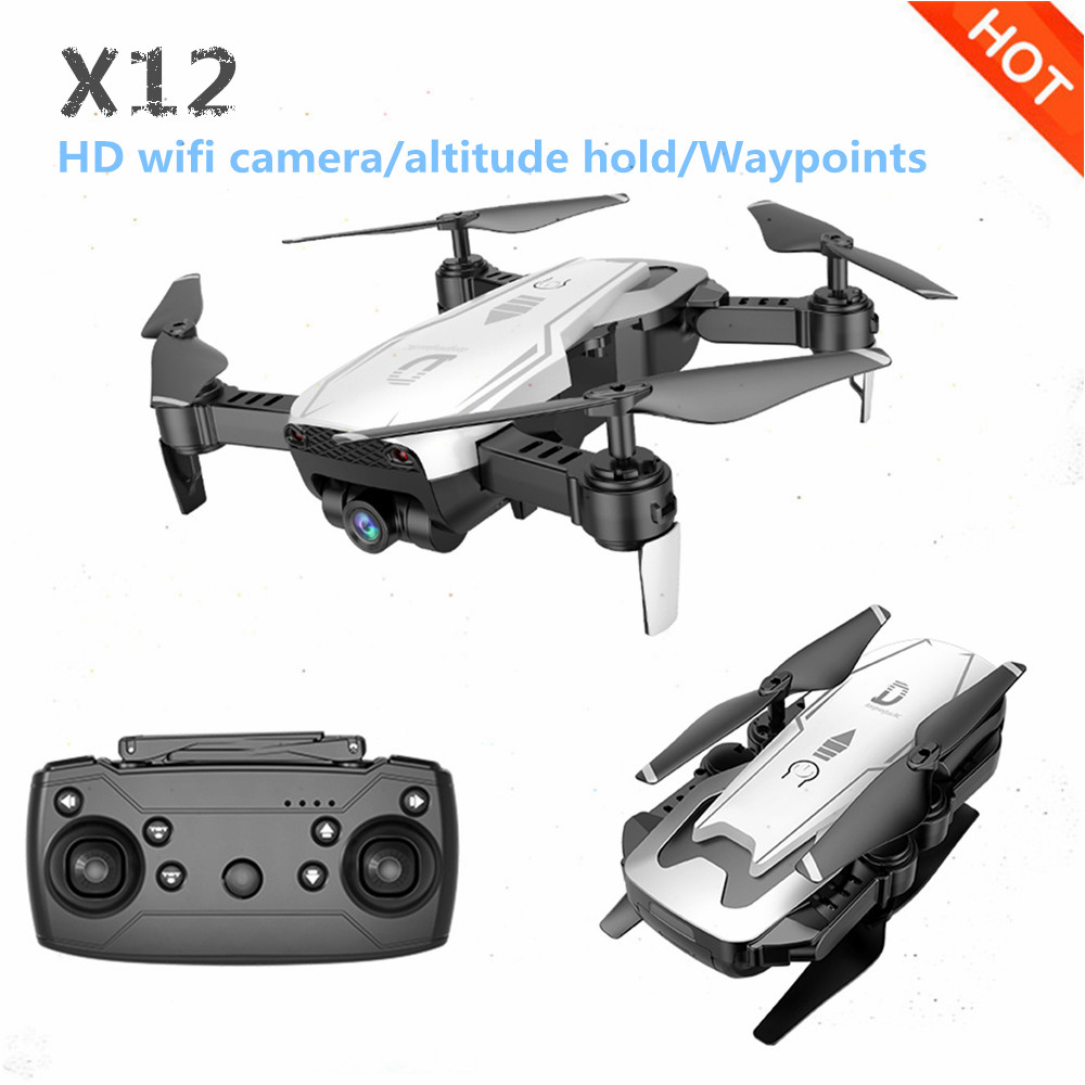 Neueste X12 Drone Mit 0.3MP/2MP Weitwinkel HD Kamera FPV Mini Drohne Headless Modus RC Quadcopter Hubschrauber VS e58 Eders