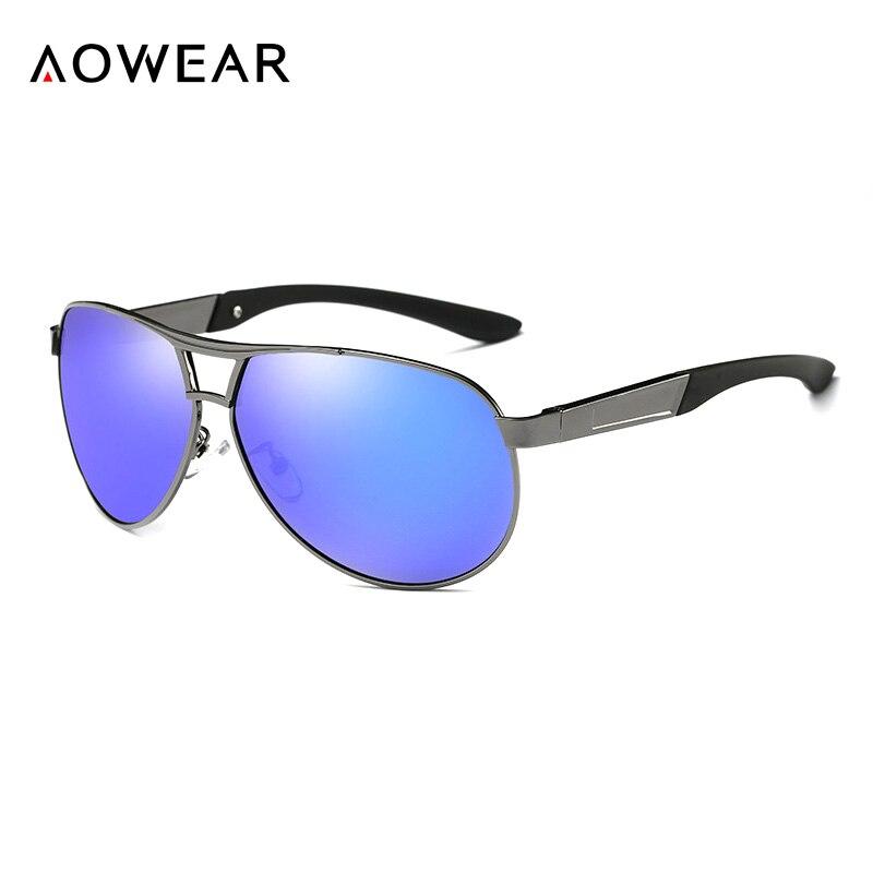 AOWEAR Markendesigner Übergroße Sonnenbrille Herren Nachtgelbe - Bekleidungszubehör - Foto 4