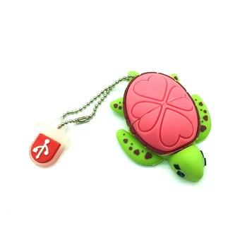 Lovely USB Flash Drive 8GB cartoon Tortoise Turtle memory stick 32GB pen drive 4GB 64GB pendrive16GB Sea turtle USB 2.0 disk