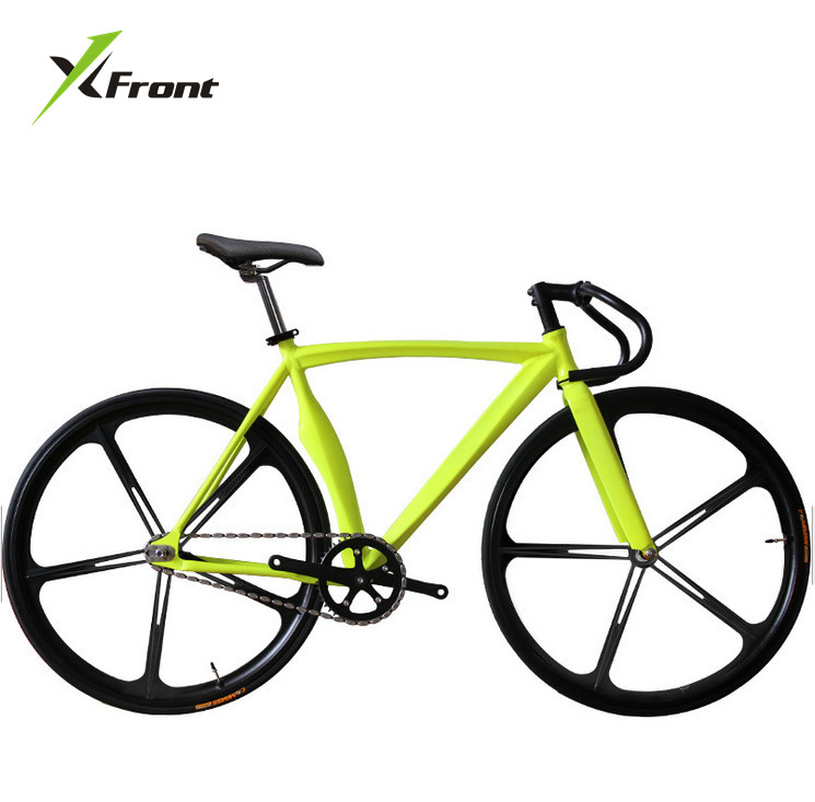 Original X-Front Brand Scimitar Muscle Fixie Bicycle Fixed Gear 52cm DIY Five Cutter Wheel Speed Road Bike Fixie Bicicleta