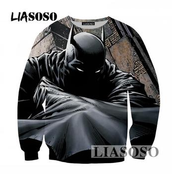 LIASOSO 2019 Newest Pullover Hoodies Men/Women Loose Sweatshirt 3D Print Popular Movie Batman Sweatshirt Long Sleeve Tops T407