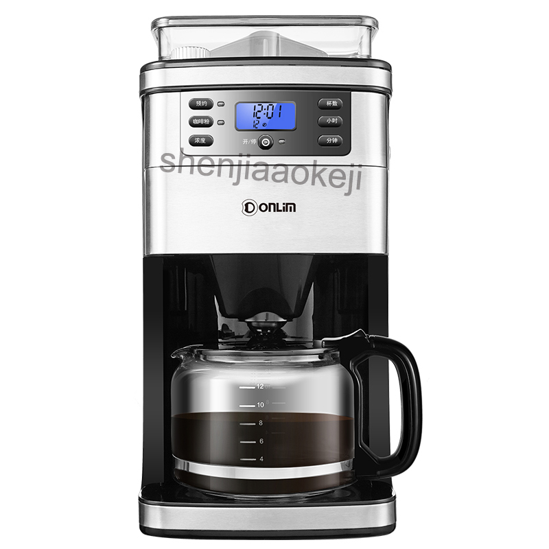 Commercial coffee machine KF800 automatic household grinding bean Cafe American machine drip coffee maker 900W 1pc md236 commercial drip coffee maker household automatic american coffee maker