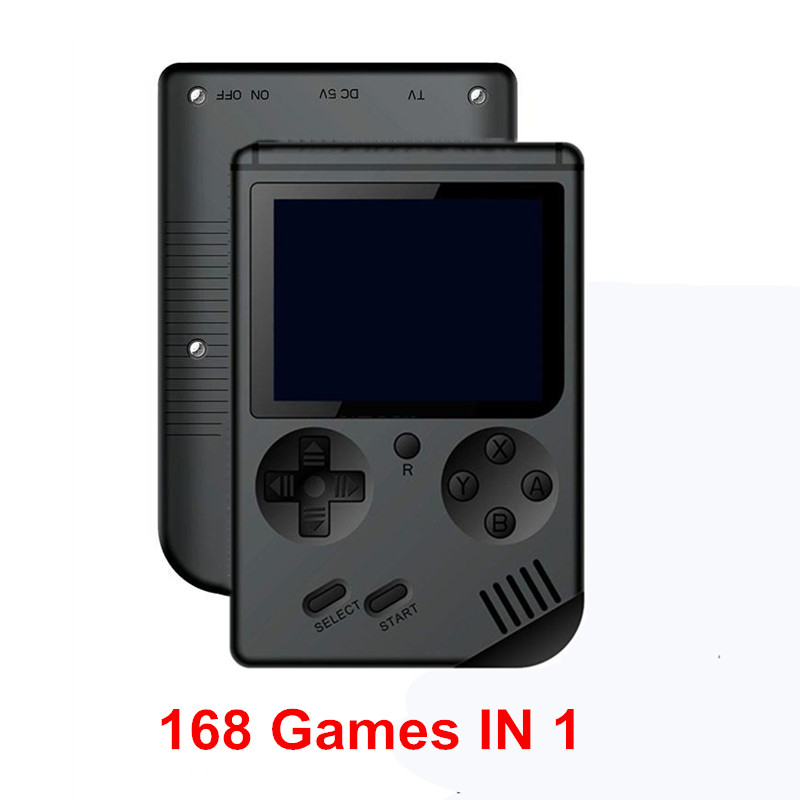 Handheld <font><b>Game</b></font> Console Nostalgia 8 Bit Retro 3.0 Inch <font><b>Color</b></font> LCD Mini Pocket <font><b>Game</b></font> Player Built-in 168 Classic <font><b>Games</b></font> <font><b>Boy</b></font> Best Gift image
