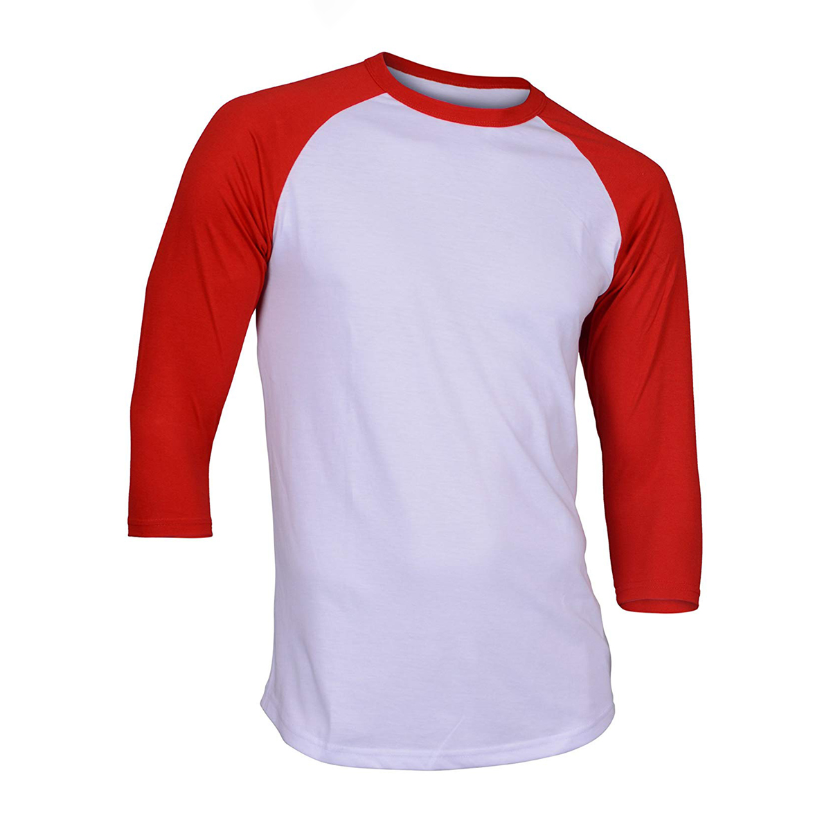 Solid Raglan Men <font><b>T</b></font>-<font><b>Shirts</b></font> 2019 Summer <font><b>Blank</b></font> 3/4 Sleeve <font><b>T</b></font> <font><b>Shirt</b></font> 100% Cotton Spring Male Tops Black <font><b>White</b></font> Blue Red Tee <font><b>Shirts</b></font> CM01 image