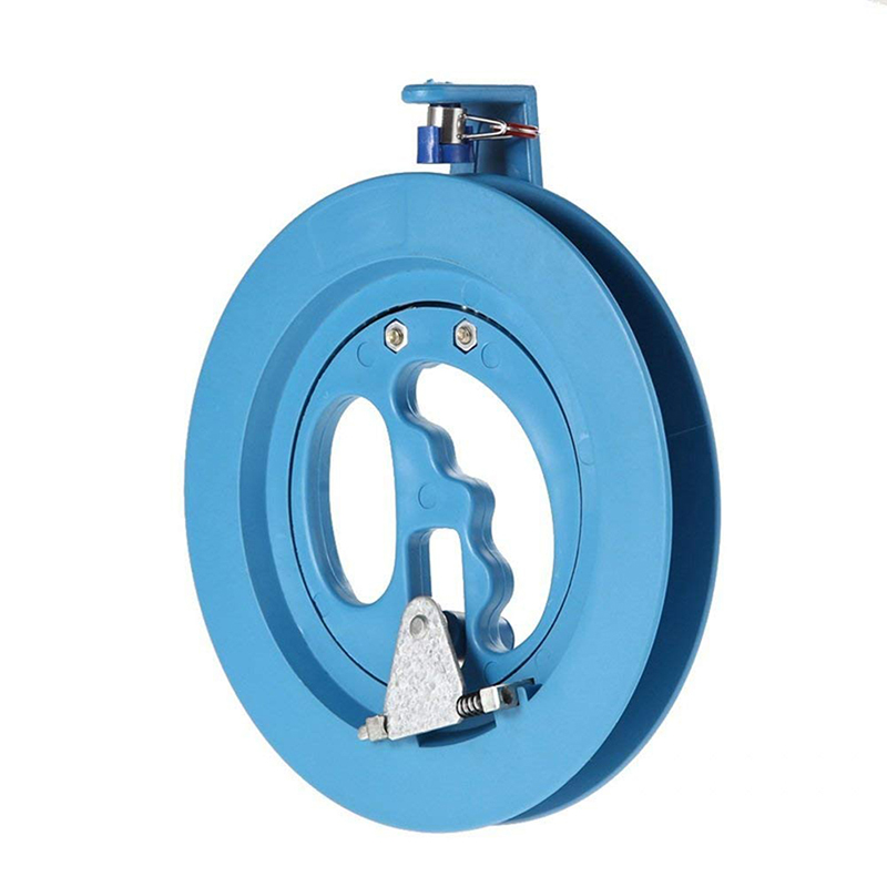 18cm Kite Reel Winder Fire Wheel Flying Handle Tool For Kite Accessories Twisted String Line Outdoor Round Blue Grip