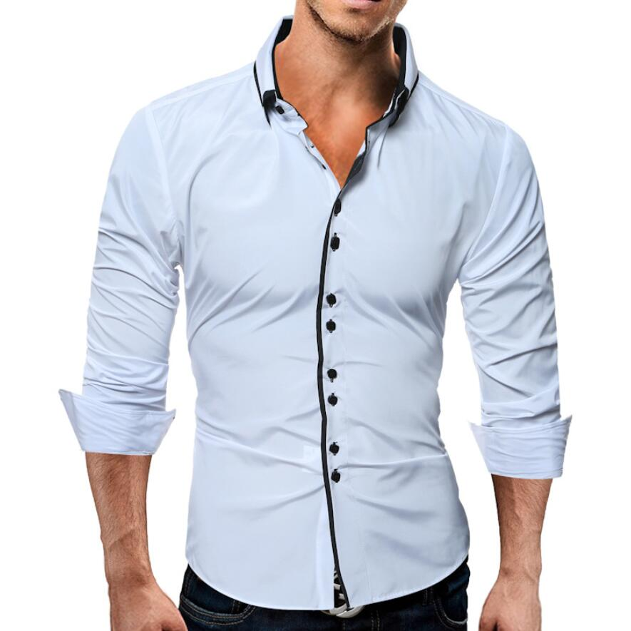 Men Casual Shirts 2018 High-Quality Brand Long Sleeve Shirt Double Button Funky Camisa Masculina Slim Fit Men Dress Shirts XXXL