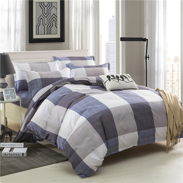 2018 Black And White Stripes Plaid Bedding Sets Twin Full Queen King Size Good Quality Duvet Cover Bed Sheet Pillowcase