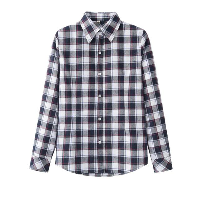 a915316edac 2018 Hot Sale Spring Fashion Women Flannel Plaid Shirt Plus Size Blouses  Female Long Sleeve shirt Ladies Blusas Tops 20 Colors