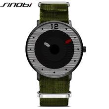 Nuevo Estilo Simple Reloj Creativo Reloj de Cuarzo Deporte de Los Hombres Casual de Negocios Diseño de Nido de abeja de LA OTAN Nylon hombre 2016 SINOBI Montre