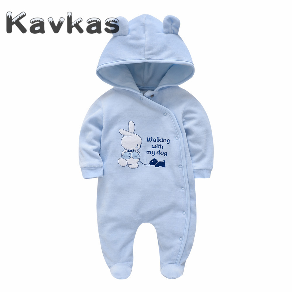 Kavkas Rompers Long-Sleeve Roupa-De-Bebes Newborn-Baby Baby-Boys Winter Infant Cartoon