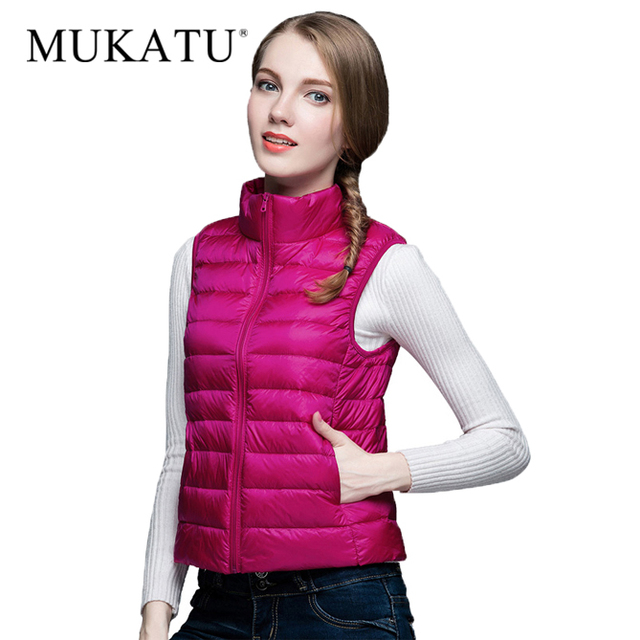 90% White Duck Ultra Light Down Vest Sexy Lovers Slim Outerwear Vest Winter Duck Down Jacket Packable Vest 2017 Women Parkas