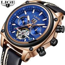 Men Watches Retro Automatic Mechanical Watch Male Fashion Sport Watch Men Casual Leather Waterproof Watch Relogio Masculino все цены