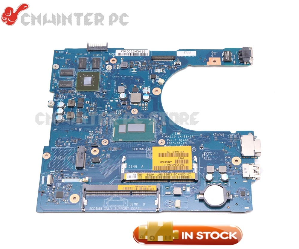 NOKOTION для Dell inspiron 5458 5558 5758 Материнская плата ноутбука CN-0V2X3C 0V2X3C AAL10 LA-B843P SR23W I7-5500U GeForce 920 м