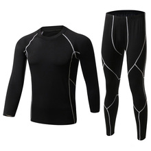 2017 New Winter Men Thermal Underwear Sets Fleece Warm Long Johns Breathable Thermo Underwear Quick Dry Top and Pant Suit Tights