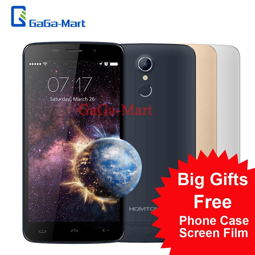 "bilder für Original HOMTOM HT17 4G Smartphone Android 6.0 MTK6737 Quad Core 1 GB RAM 8 GB ROM 8.0MP Fingerabdruck 5,5 ""handy"