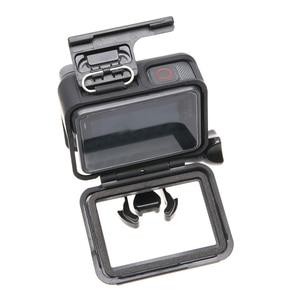 Image 5 - Black Housing Frame Backdoor Clip Lock Buckle Replacement Backdoor Frame for GoPro Hero 5 6 7 camera Accessories