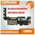 Original für For Asus S551L S551LN V551 K551 K551L R551LA R551LB USB AUDIO board S551LN IO BORD kostenloser versand