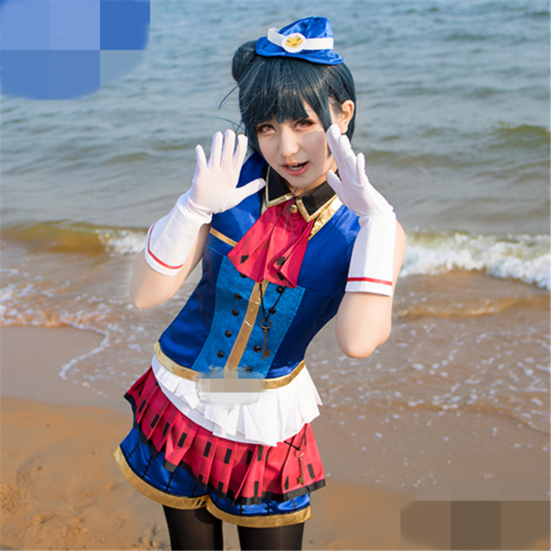 Love Live Sunshine Aqours Tsushima Yoshiko Happy Party Train Tour Cosplay Costume Christmas Costume Uniform Suits