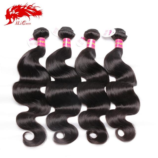 6A 4 Bundles Brazilian Body Wave 100g/pc human hair natural black color #1b, 100% Unprocessed Brazilian Virgin Hair Body Wave