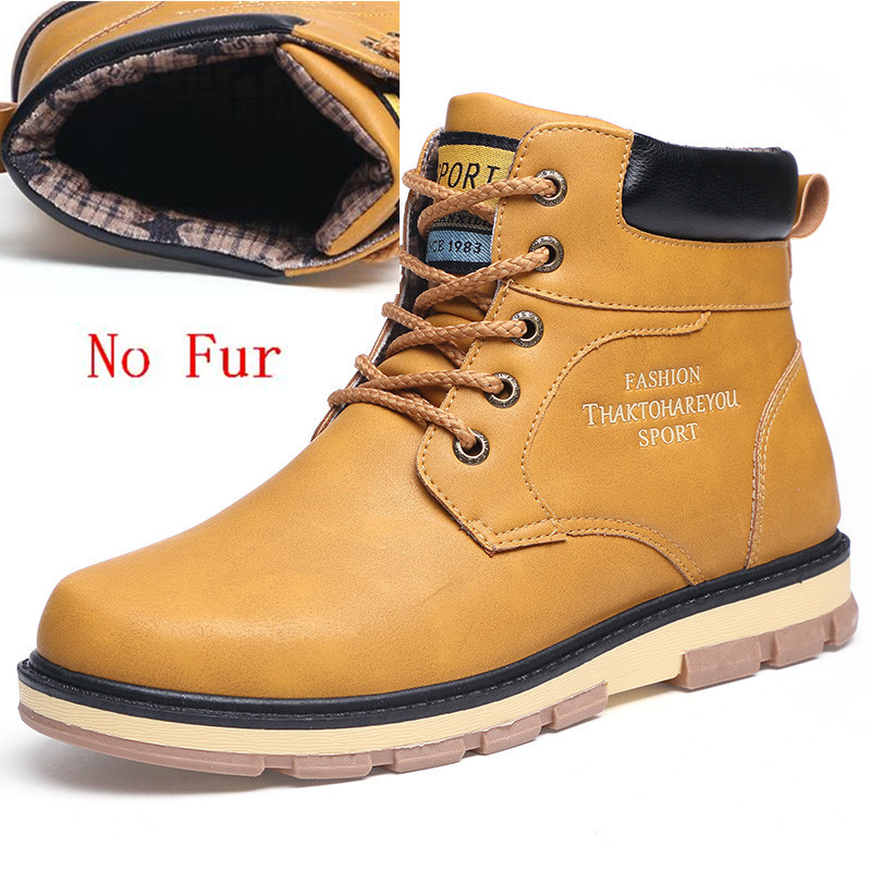 8f5cbc1580e US $23.46 41% OFF|VANCAT Super Warm Men's Winter Pu Leather Ankle Boots Men  Autumn Waterproof Snow Boots Leisure Autumn Boots Mens Shoes-in Snow Boots  ...