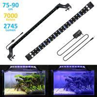 Slim LEDs Aquarium Lighting Aquatic Plant Light 75 90CM Extensible Waterproof Clip on Lamp For Fish Tank