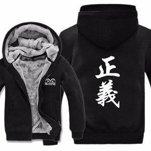 Image 2 - Winter Warm Ein Stück Hoodie Anime Zoro Luffy Mantel Ace Whitebeard Jacke Gesetz Hoodies Männer Dicke Fleece Einem Stück Sweatshirts