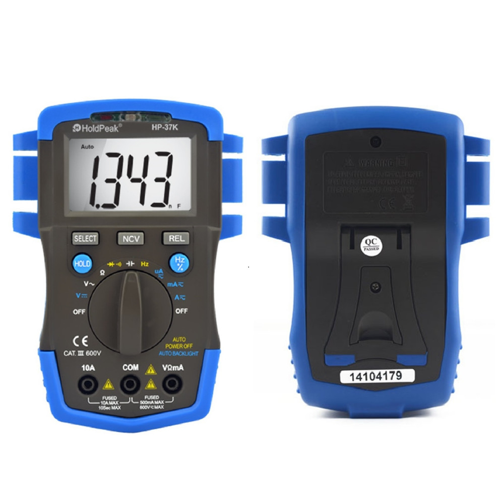 Mini Multimetro digital HoldPeak HP-37K Auto Range Digital Multimeter Resistance Capacitance Frequency Testeur Electrique Adm30 holdpeak hp 90epc multimetro digital usb multimeter dmm auto range tester lcd ammeter capacitance meter pc data transmission