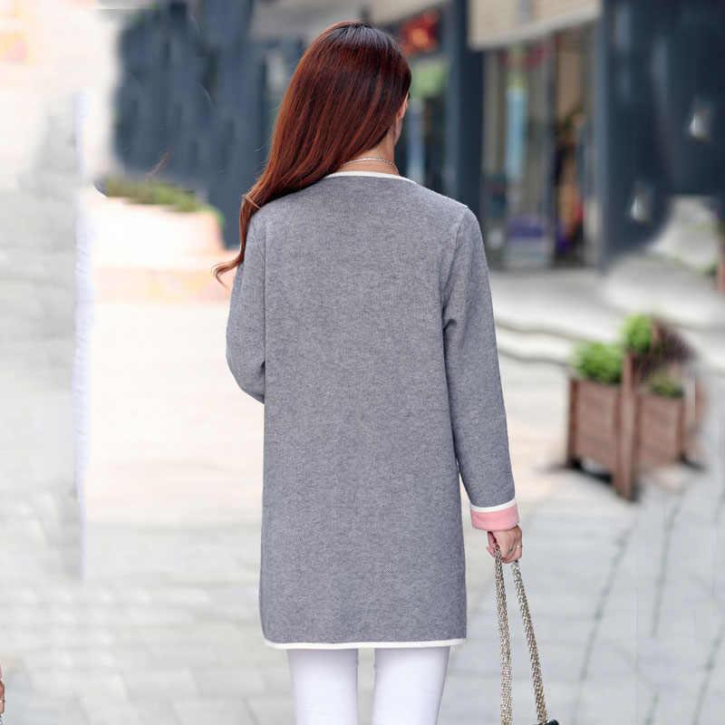 c257b83e013 ... Autumn Winter Jacket Coats Women 2019 New Long Sleeve Knitted Jackets  Female Outerwear Jaqueta Mujer Casual ...