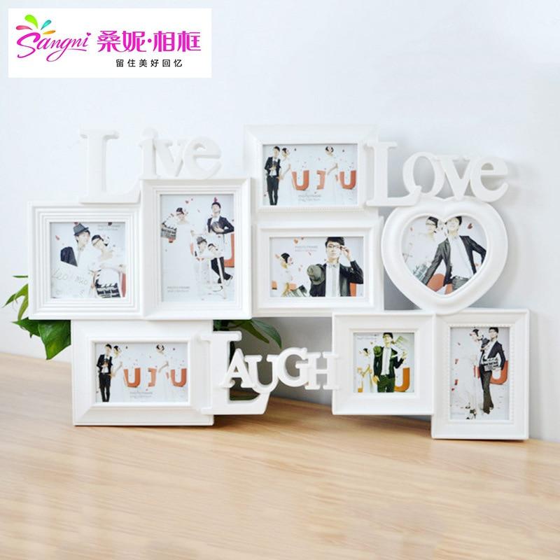 Photo Studio amour couture plastique combinaison pièce cadre Photo pièce créative Photo mur mariage Photo cadre