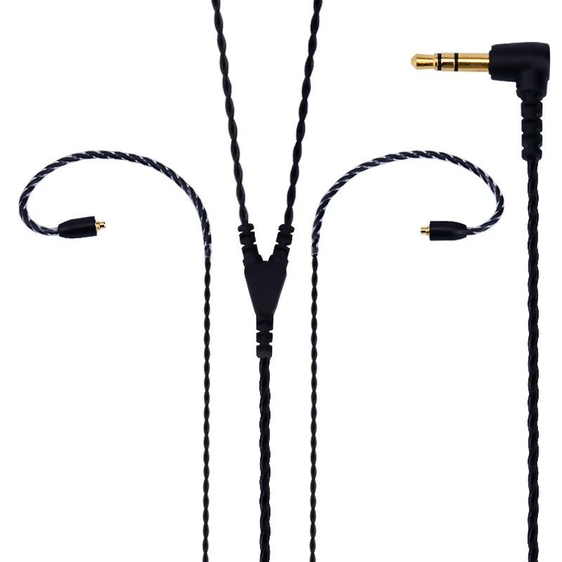 Super Weich Keine Stethoskop Wirkung Silber Überzogene Kopfhörer Kabel für Shure SE215 SE315 SE425 SE535 SE846 UE900