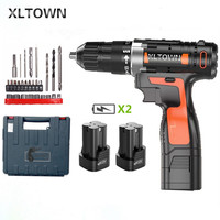 Xltown 16.8v Cordless Mini Electric Drill with 2 battery Multi energy lithium battery electric screwdriver power too Gift drill