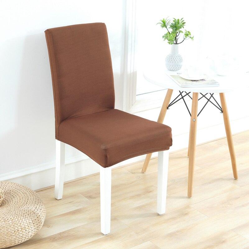 Сплошной цвет ткани стрейч спандекса чехлы Универсальный Размер чехлы на стулья для свадьбы/home/стул гостиницы украшения защиты