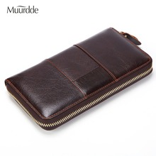 2019 Fashion Genuine Leather Wallets Brands Mens Wallet Leather Genuine Purse Long Clutch Money Bag Coin Purse Male Card Holder fashion women genuine leather red black bag cowhide wallet card money holder clutch purse long short purple original wallets