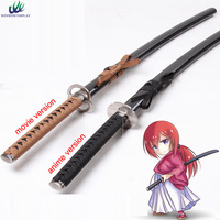 Anime kenshin himura reverse blade sword prop Cosplay weapon Props For Party Halloween Christmas