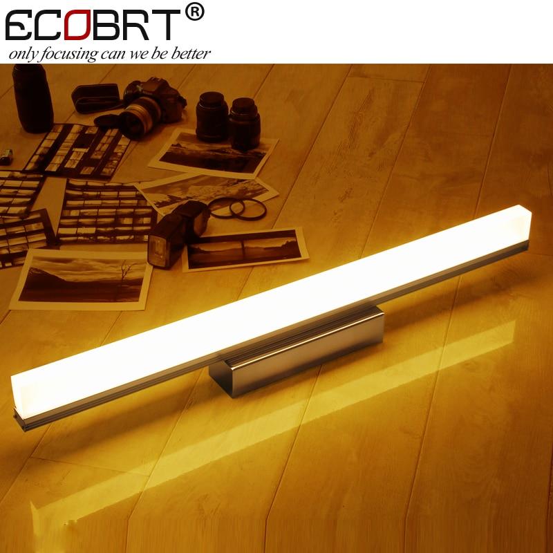 [ECOBRT] Современные светодиодные настенные светильники Алюминий вверх по поверхности, установленный у бра Внутреннее зеркало в ванной Лампы Освещение