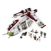 05041 Wars on игрушечная звезда, совместимая с legoinglys 75021 Республика, комплект для детей, кубики для обучения, подарок для мальчика