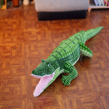 ¡Novedad de 100 cm! juguetes de peluche de cocodrilo de gran tamaño de la vida real, muñecos de peluche, juguetes para niños, cojín, almohada, regalos, COSOTO