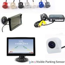"""Hurtownie 5 """"LCD Monitor Samochodów + CCD Kamera Cofania Backup + Auto Czujnik Parkowania Wideo Wyświetlacz Rewers System Pomocy 4 Radars"""