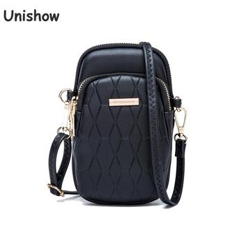 Fashion Women Phone Crossbody Bags Mini Female Shoulder Bag Plaid Pu Leather Ladies Wallet Purse Small Women Messenger Bag