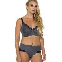 New Women's Full Cup Bra Set Push Up Sexy Lace Bra Cotton Briefs Sets Underwear Minimizer Bra Unlined Big Size 36D-46G