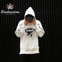 Stubnation 2017 Autumn Winter Appeal For Animal Protection Series White Basic Sweatshirts Mens Printed Fleece Sweatshirts